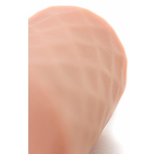 Телесный мастурбатор-вагина ELEGANCE с ромбами по поверхности