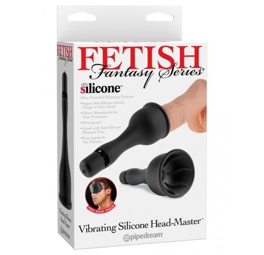 Вибростимулятор для головки члена с сосущим эффектом Vibrating Silicone Head-Master