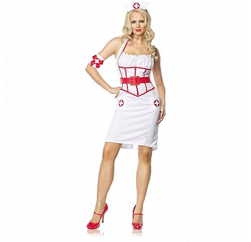 Костюм главного врача S-M белый с красным